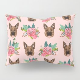 German Shepherd florals bouquet dog breed pet friendly pattern dogs Pillow Sham