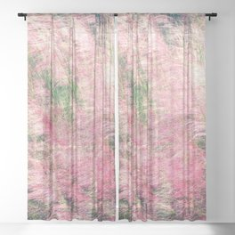 Pink Fairy (Muhly) Grass Sheer Curtain
