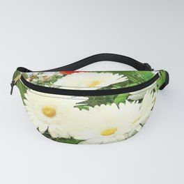 chamomile flowers and poppies Fanny Pack