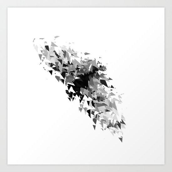 Triangles flow Art Print