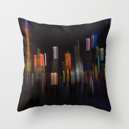 Shanghai Skyline II Throw Pillow