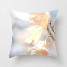 Abstract Oak Leaves Throw Pillow