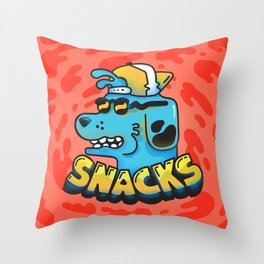 Snacks Dawg Throw Pillow