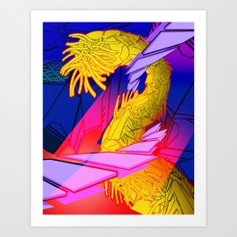 AUTOMATIC WORM 7 Art Print