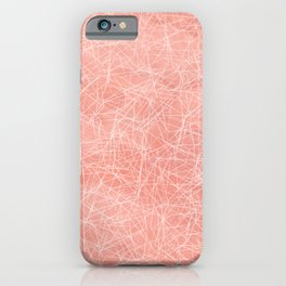 Cotton candy linear motif / seeing through pink glasses iPhone Case
