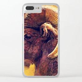 Bighorn sheep #sheep #animals Clear iPhone Case