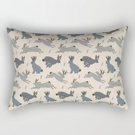 Jackalope Snow Parade Rectangular Pillow