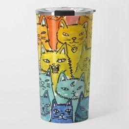 the pride cat rainbow  squad Travel Mug