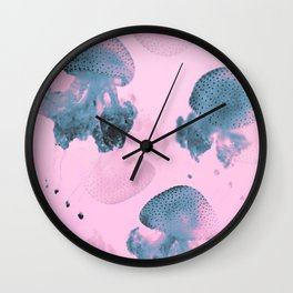 Candy Jellyfishes Wall Clock