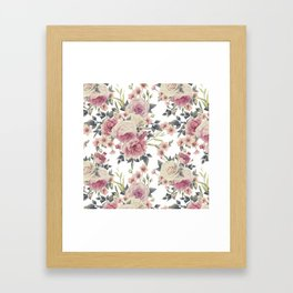 FLORAL PATTERN 5 Framed Art Print