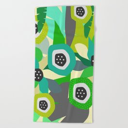 Bright tropical vibe Beach Towel