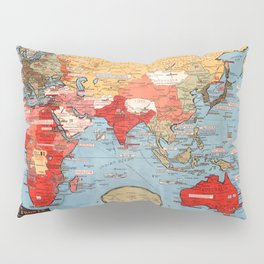 Map Of World War 2 Pillow Sham