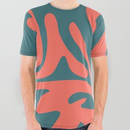 Living Coral in the Deep Sea - Pantone Color Trend 2019 All Over Graphic Tee