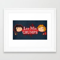 game grumps Framed Art Prints featuring Les Mis Grumps by juanjoltaire