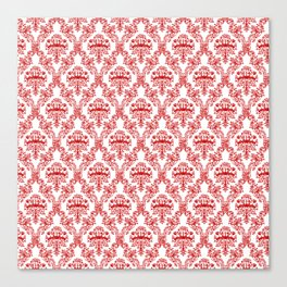 Chinese Papercut Red and White Canvas Print