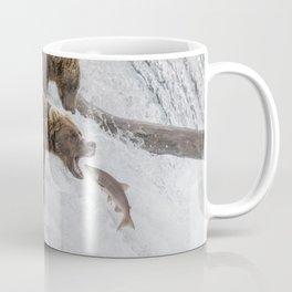 The Catch - Brown Bear vs. Salmon Coffee Mug