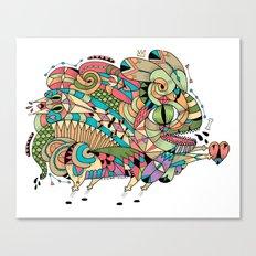 Monster Bunny Canvas Print