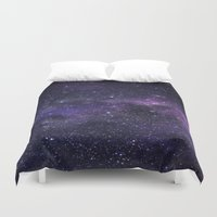 cosmic Duvet Covers featuring Cosmic by Marta Olga Klara