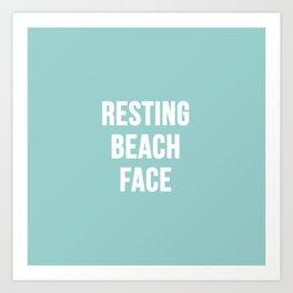 Resting Beach Face Art Print