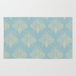 Blue Bees Rug