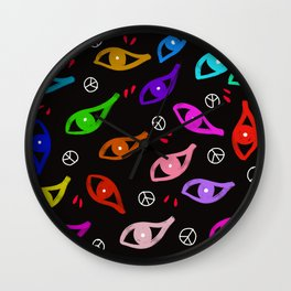Eyes open Wall Clock
