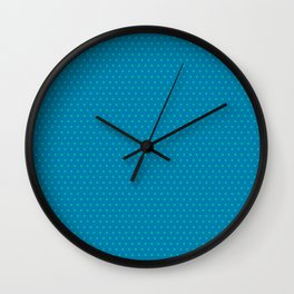 Blue and Teal Poka Dots Design Wall Clock