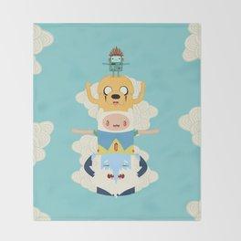 Adventure Totem Throw Blanket