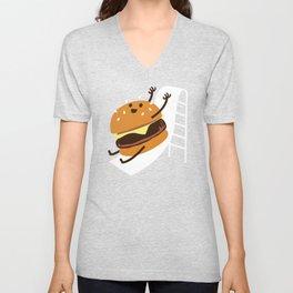 Slider Burger Unisex V-Neck