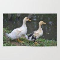 ducks Area & Throw Rugs featuring Ducks by Stephanie Owens