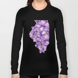 Illinois in Flowers Long Sleeve T-shirt