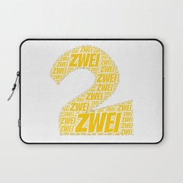 Zahl Zwei t shirt german as birthday present Laptop Sleeve