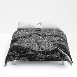 Rotterdam Black Map Comforters
