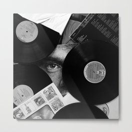Long-playing Records and Covers in Black and White - Good Memories #decor #society6 #buyart Metal Print