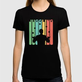Vintage 1970's Style Juggling Graphic T-shirt