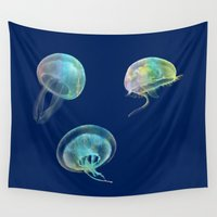 jellyfish Wall Tapestries featuring Jellyfish by Vitta