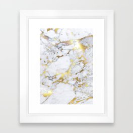 Original Gold Marble Framed Art Print