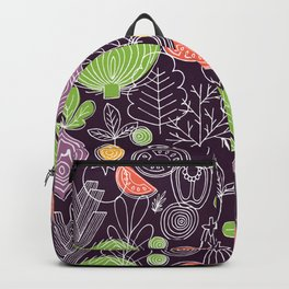 Vegetable Pattern Scandinavian Design Backpack