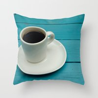 coffe Throw Pillows featuring Coffe by Camaracraft