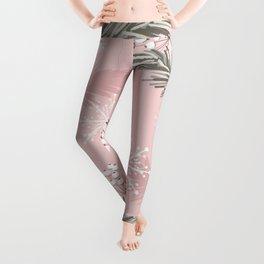 Vintage Pink Christmas Leggings