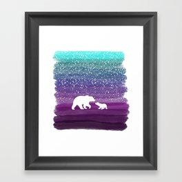 Bears from the Purple Dream Framed Art Print
