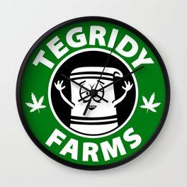 Tegridy Farms Wall Clock