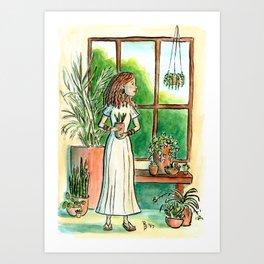 Plant Lady Art Print