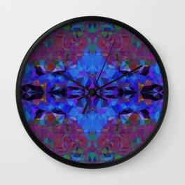 Cobalt Hex Wall Clock