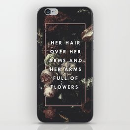 Arms Full Of Flowers iPhone Skin