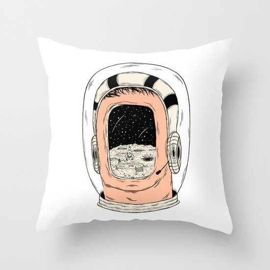 From the Earth to the Moon Throw Pillow