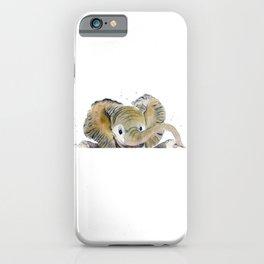 Hello,Anybody At Home? - Baby Elephant iPhone Case