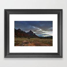 The Watchman, Zion National Park Framed Art Print