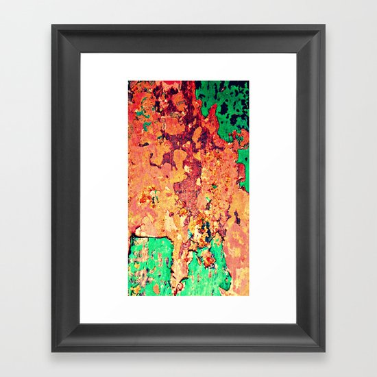 It's a Rusty Rusty World Framed Art Print