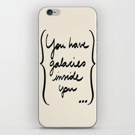 Etc e tal: You have galaxies inside you iPhone Skin