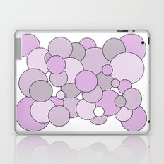 Bubbles - purple, gray and white. Laptop & iPad Skin